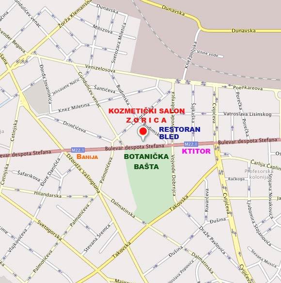 mapa beograda bulevar despota stefana KOZMETICKI SALON ZORICA|KONTAKT, BEOGRAD, SRBIJA mapa beograda bulevar despota stefana